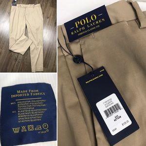 Ralph Lauren Polo Flat Front Khaki Boating Pants